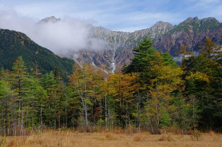 田代湿原から穂高連峰