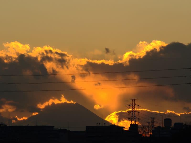 12月24日 富士山の夕日