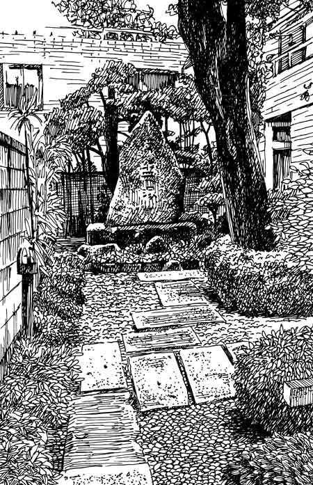 ペン画の風景画4