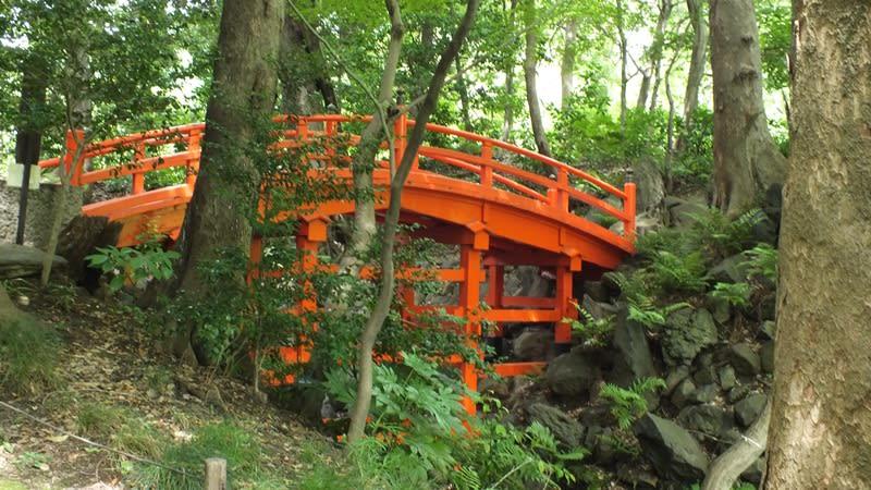 小石川後楽園の通天橋
