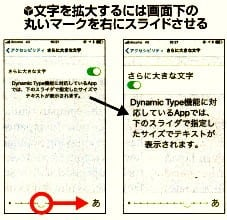 iPhoneの文字の拡大方法