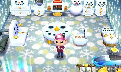 どうぶつ 森 雪だるま の とびだせ