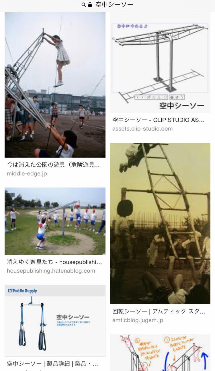 【画像】 昭和生まれのおっさんはこんな無茶苦茶な遊具で遊んでたってマジ?