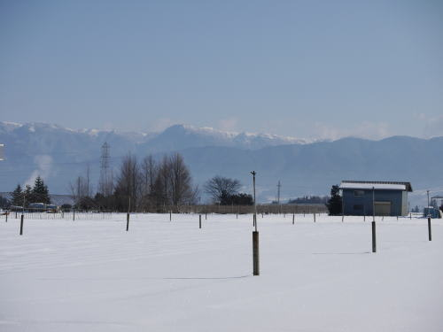 山形村から見た美ヶ原高原