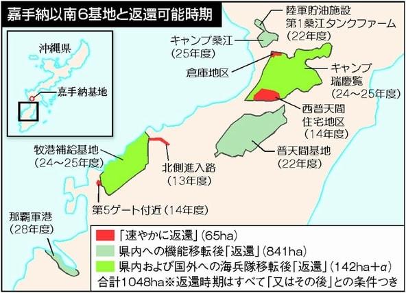 沖縄米軍基地に関する日米の「返還」合意・・・。でも、実態は基地の ...