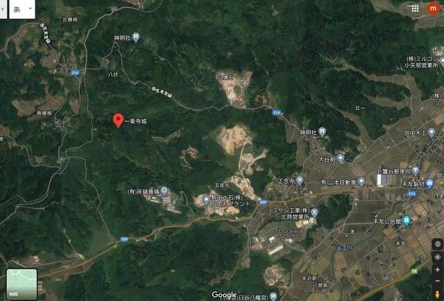 一乗寺城@富山県小矢部市八伏 令和三年(2021)3月23日