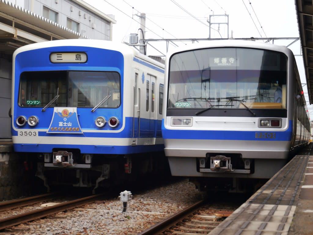 伊豆箱根鉄道7000系と3000系