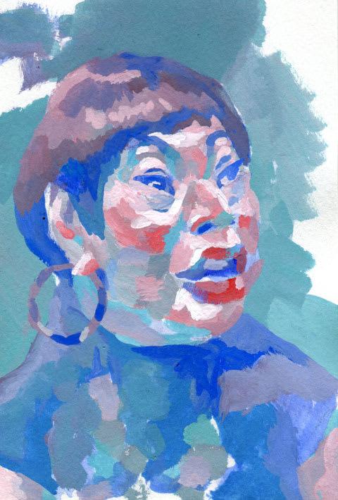 湯山玲子似顔絵イラスト画像