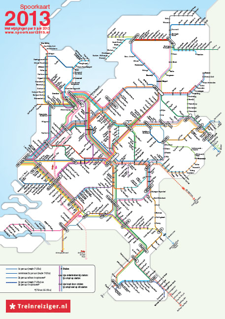 オランダの鉄道とバスに乗った・...