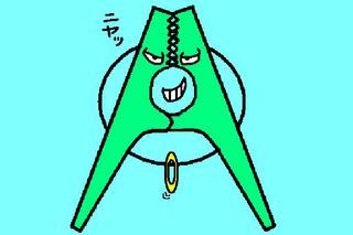 おしゃれな洗濯バサミイラストマウス絵 ヘンな絵ブログ