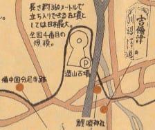 造山古墳周辺の地図