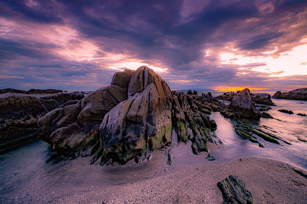 白浜の屏風岩の写真