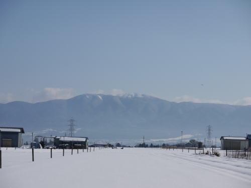 山形村から見た鉢伏山