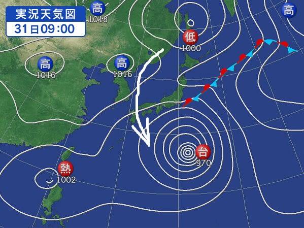 08月31日 天気図