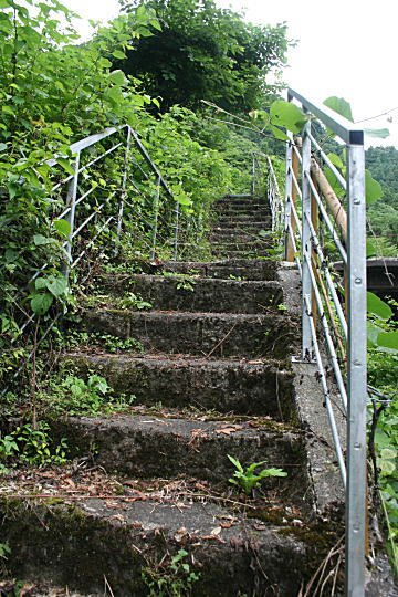 宝谷鉱山入口階段