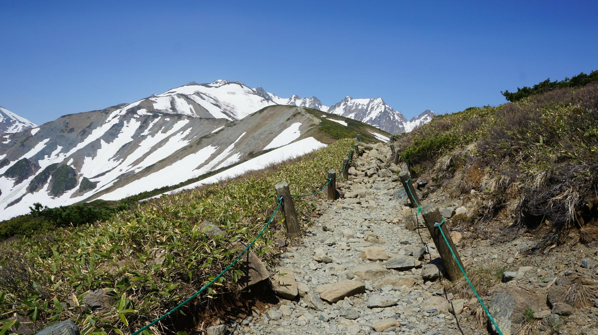 残雪の唐松岳 - acc-j 茨城 山岳会日記