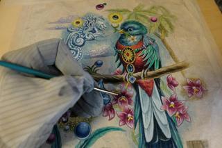 166.世界一美しい野鳥、ケツァールを描く。 , 長島充,工房通信