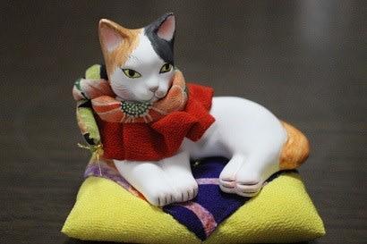 姉の家の猫達と猫人形
