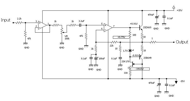 ヘッドホン・アンプの回路図紹介 ~回路改良したいのですが