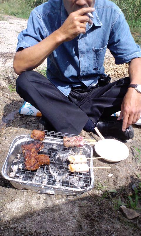 琵琶湖でバーベキュー(^з^)-☆Chu!!