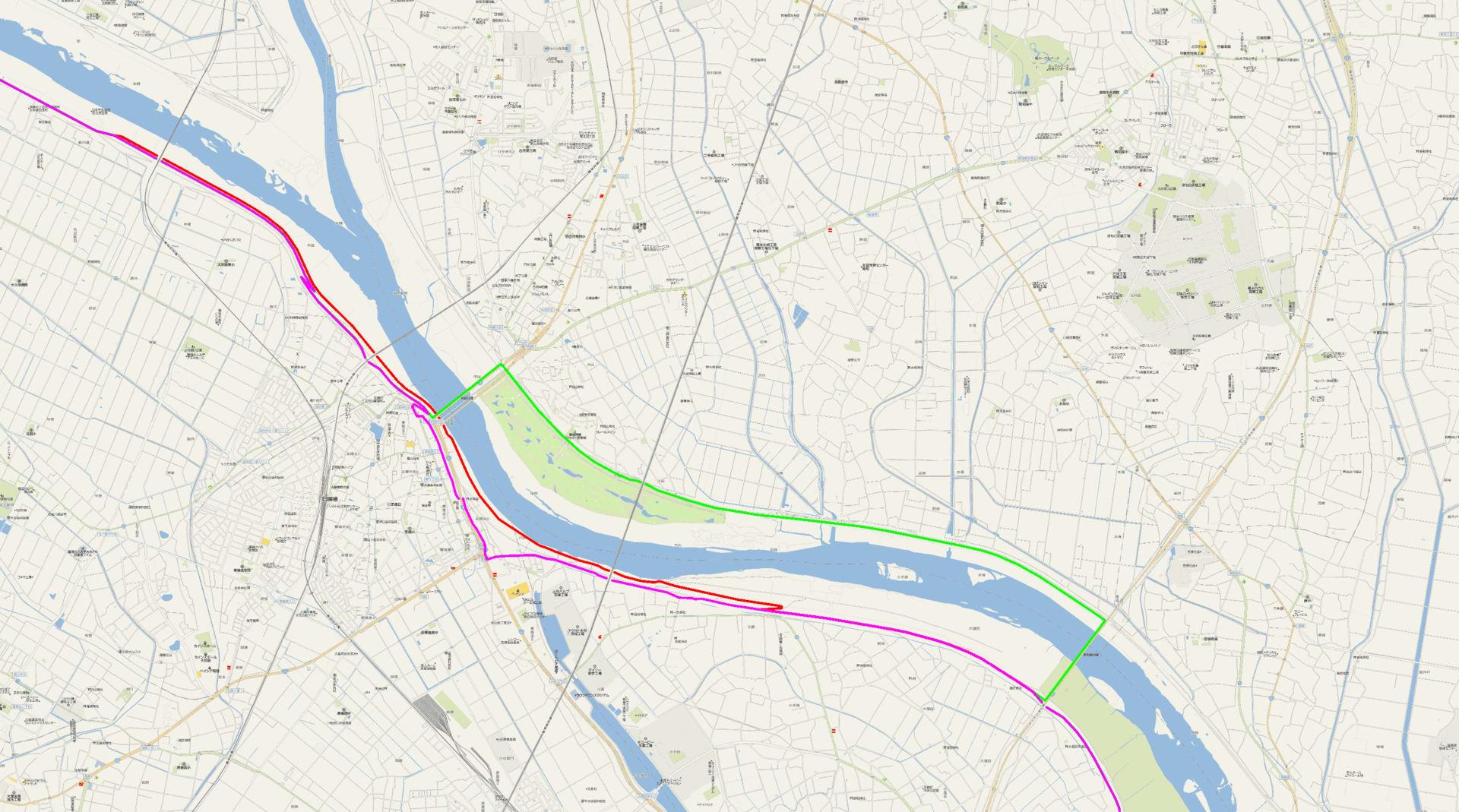 利根川サイクリングロードの栗橋周辺ルート - いのエう's blog