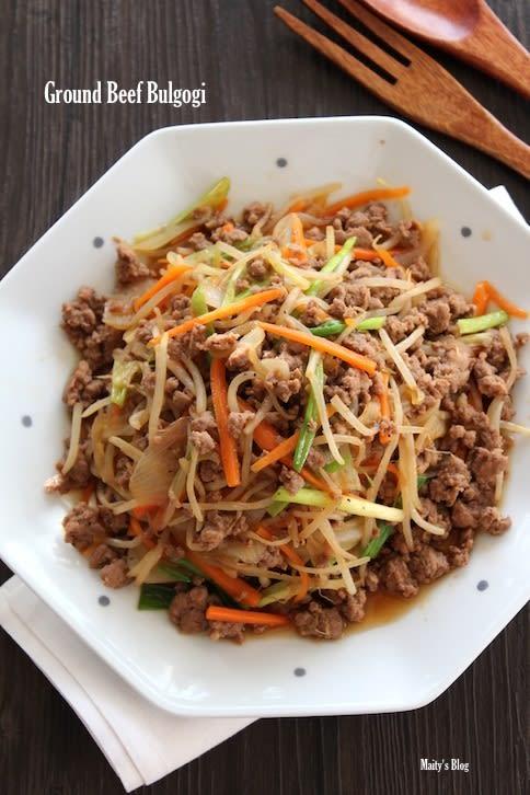 牛挽肉でプルコギからのプルコギうどん - マイティの Awesome Cooking