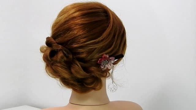 洋風、和装ロングミディアムヘアアレンジ】可愛さと大人っぽさを