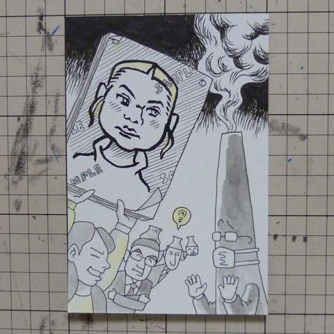 グレタトゥーンベリ似顔絵イラスト画像