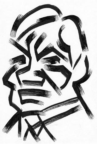 香川照之似顔絵イラストレーション画像