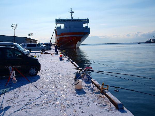 釣り 苫小牧 東港
