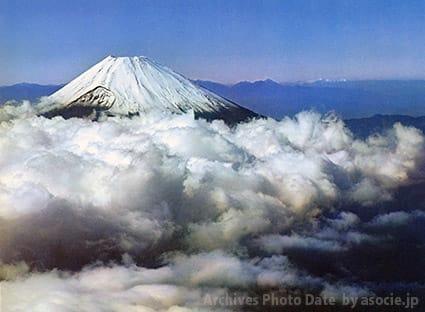 富士山の日に肖り、昭和の富士山絵はがき。 , 博多湾つれづれ