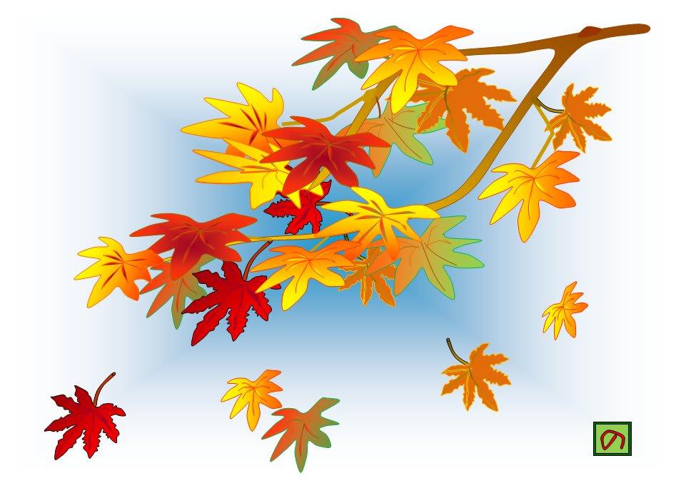 公園の朝 木々の紅葉も進んでとっても奇麗でしたよ おばちゃんのぶろぐ おもしろイラスト てるてる姫とその仲間たち