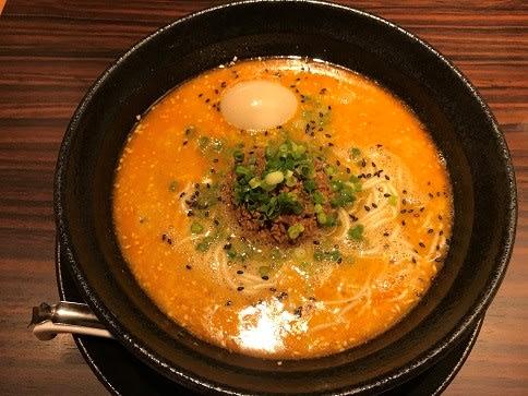 らーめん本竈エスパル仙台店の担担麺・850円+味玉・100円☆