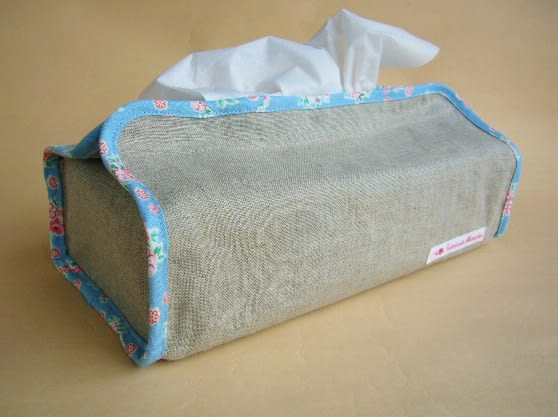 カバー 作り方 布 ボックス ティッシュ