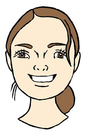 高梨沙羅似顔絵イラスト画像