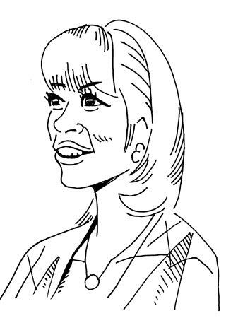 生野陽子アナの似顔絵