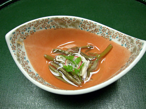 南津軽錦水 酢物 白魚と蓴菜
