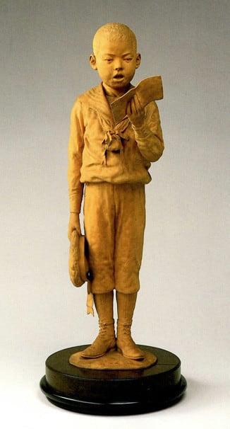 でんちゅうでござる」平櫛田中彫刻美術館 - 玉川上水の木漏れ日の下