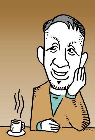 宮本亜門の似顔絵イラスト画像