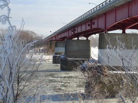 冬の石狩川河岸を遡る 14 - 田舎...