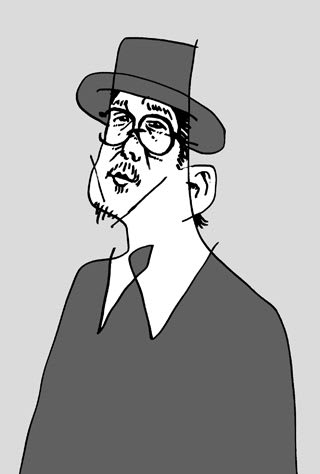 リリーフランキー似顔絵イラスト画像