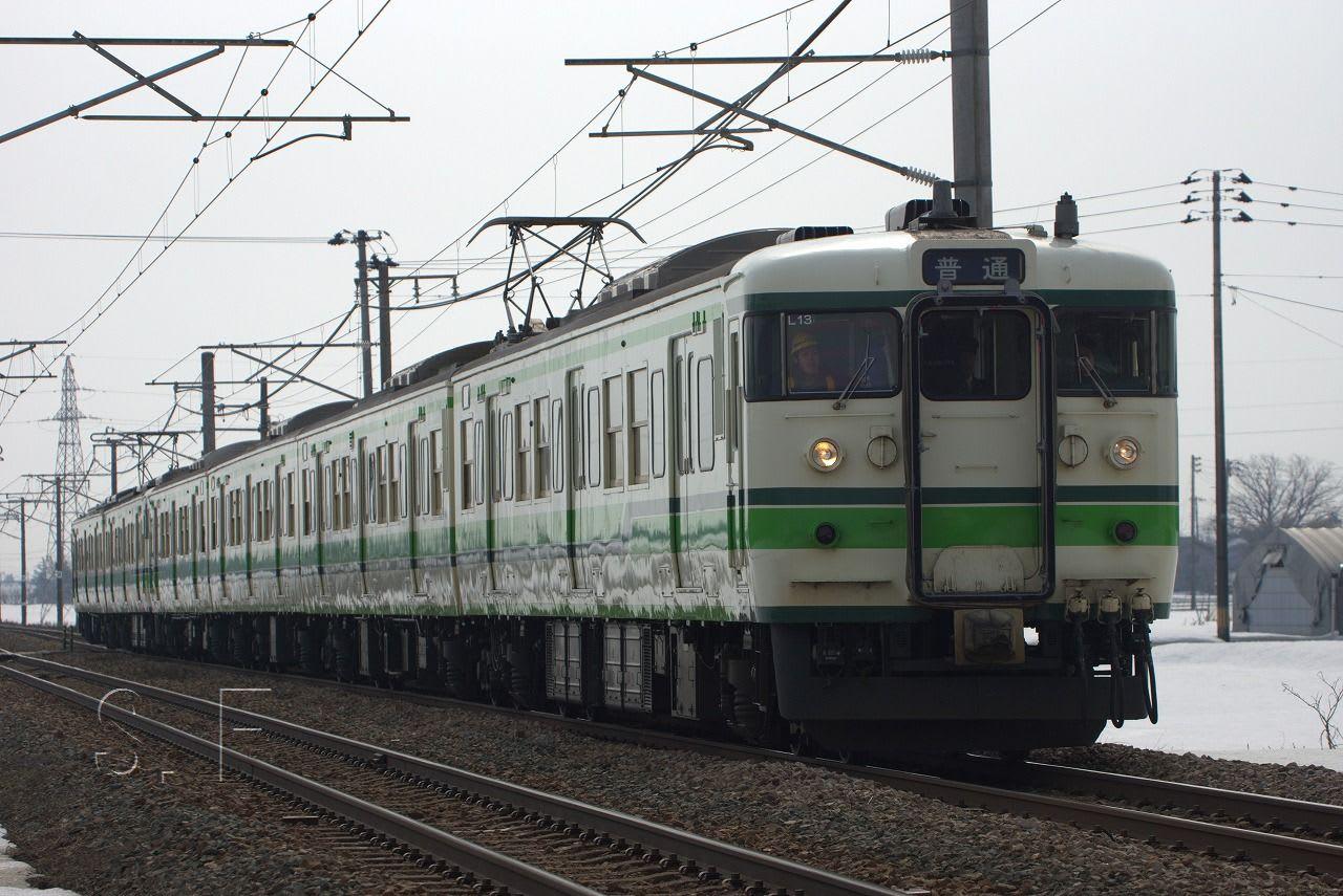 2013/3/7 上越本線 115系 L13編...