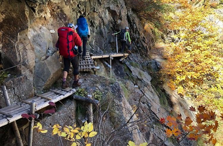 2020 廊下 下 ノ 黒部峡谷「下の廊下」 ※登山道未開通ため中止