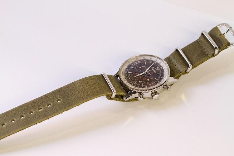 online store 211b4 0444d ブライトリング モンブリラン38 × NATOレザー - 林時計鋪