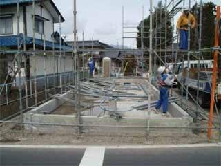 昨日から建て前の下準備がはじまった。