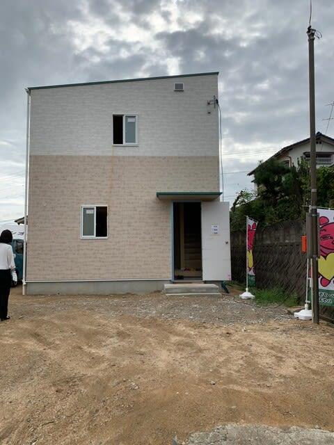 岡山市中区円山での新築見学会の様子です。 | 岡山で月々三万円で新築一戸建てを建てるならサンブランドハウス
