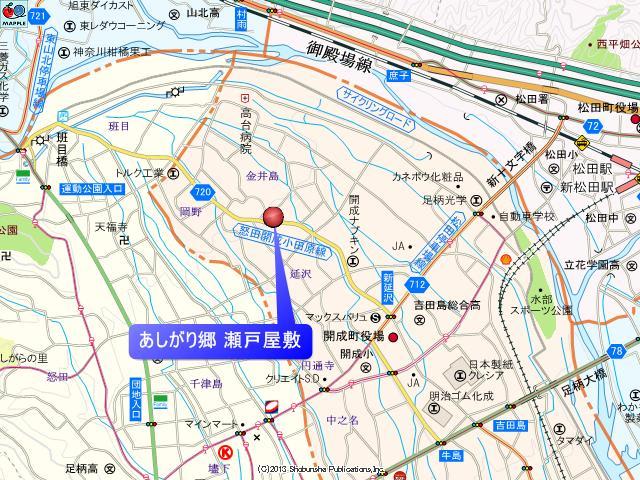 あしがり郷瀬戸屋敷の地図