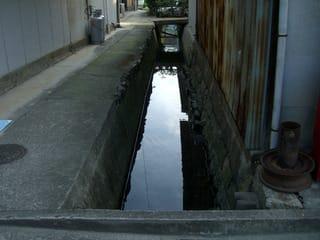 神辺宿に残る古い水路