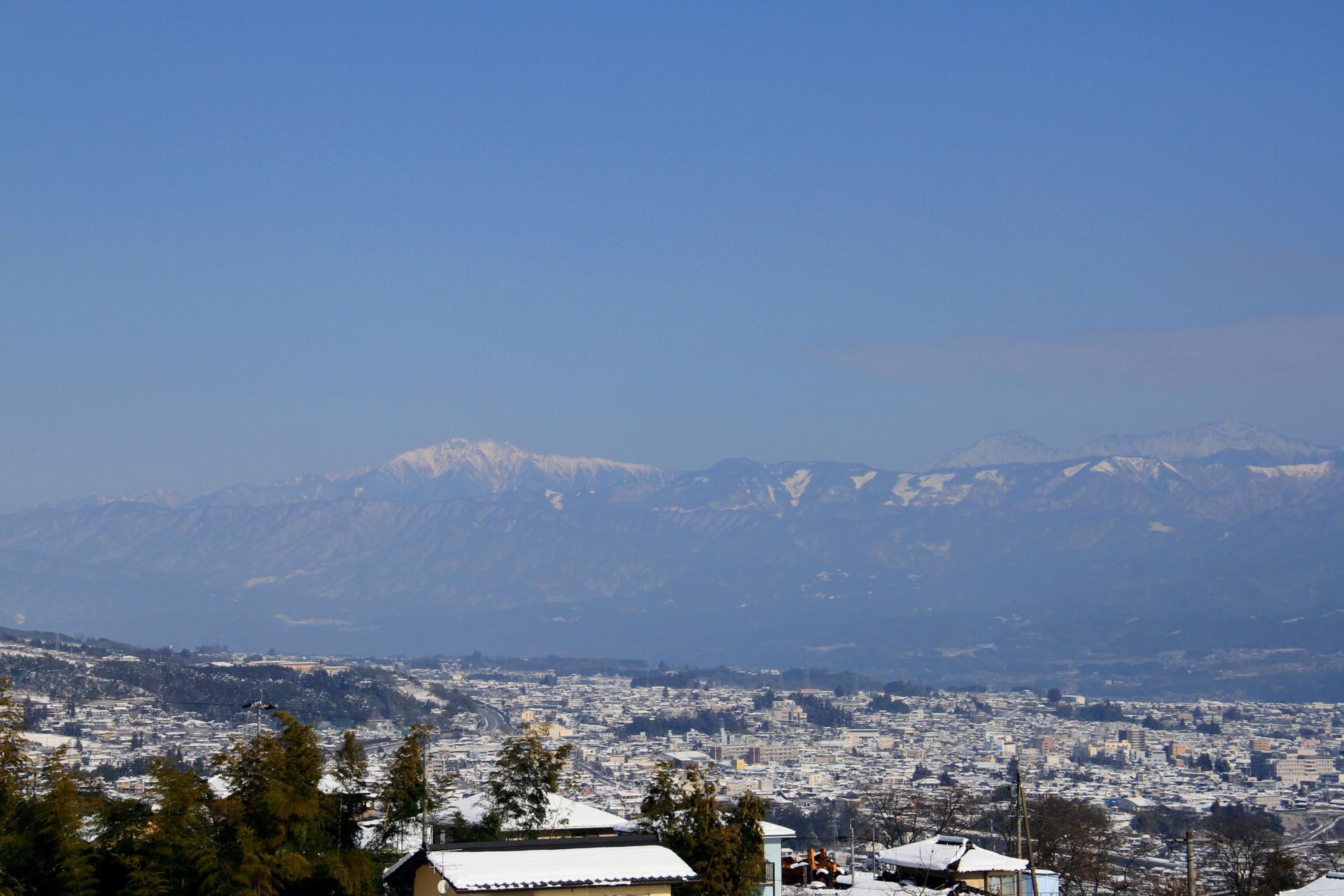 飯田市の眺め - 山 花 空 時々家族 時々パスタ 時々ピンポン