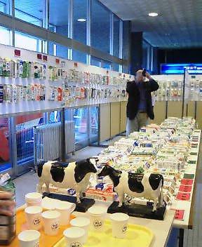 全国牛乳パック展示